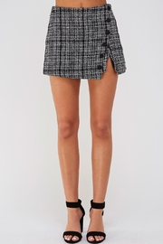 Do & Be Plaid Tweed Shorts - Product Mini Image