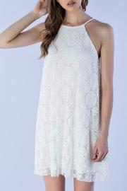 Do & Be Pleated Lace Halter - Product Mini Image
