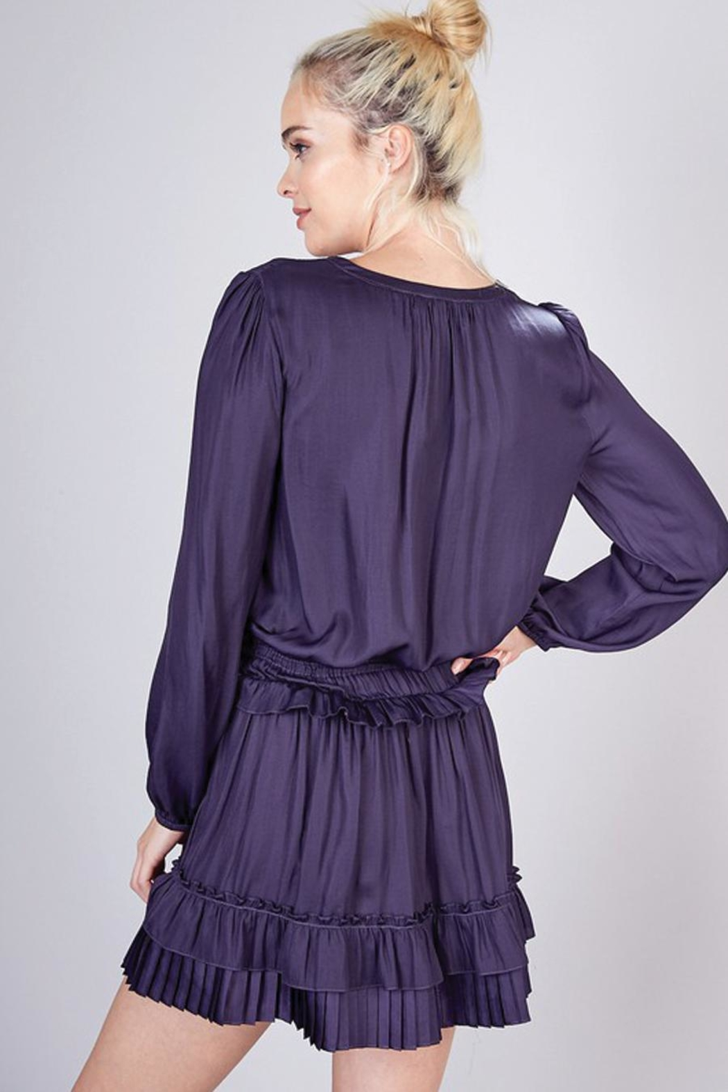 Do & Be Pleated Detail Dress - Side Cropped Image