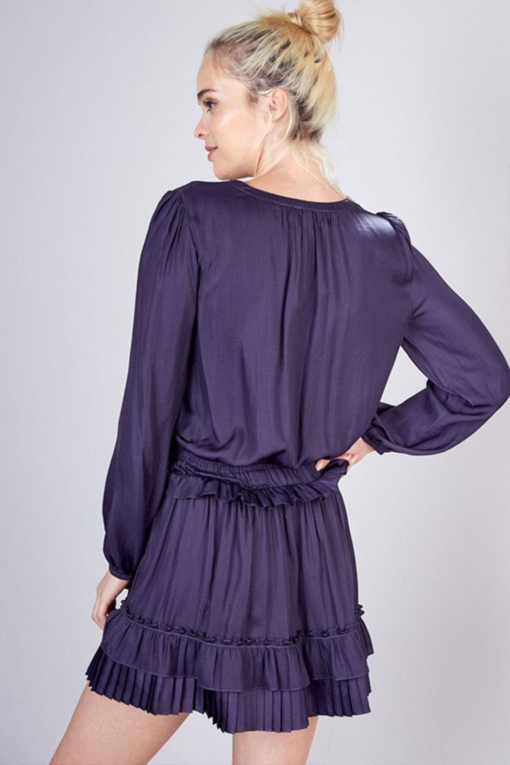 Do & Be Pleated Detail Dress - Back Cropped Image