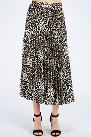 Do & Be Pleated Leopard Skirt - Product Mini Image
