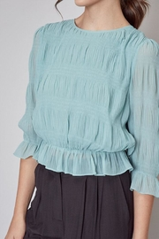 Do & Be Pleated Peplum Top - Other