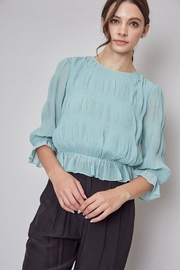 Do & Be Pleated Peplum Top - Product Mini Image