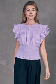 Do & Be Pleated Smocked Top - Front cropped