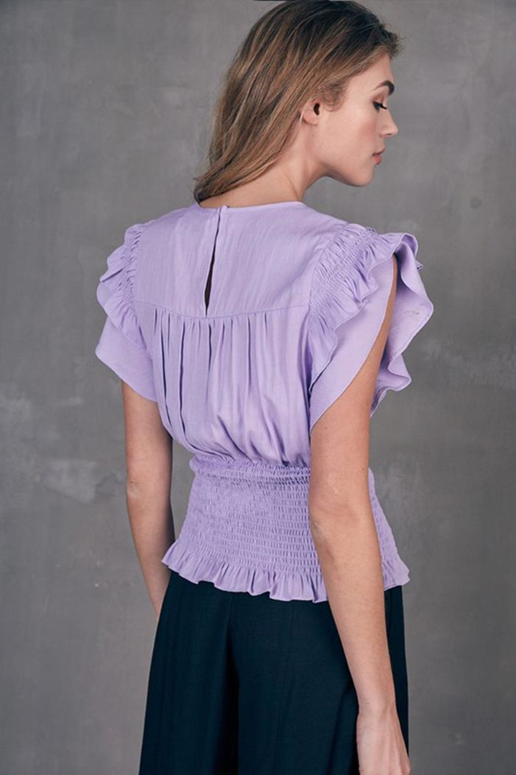 Do & Be Pleated Smocked Top - Side Cropped Image