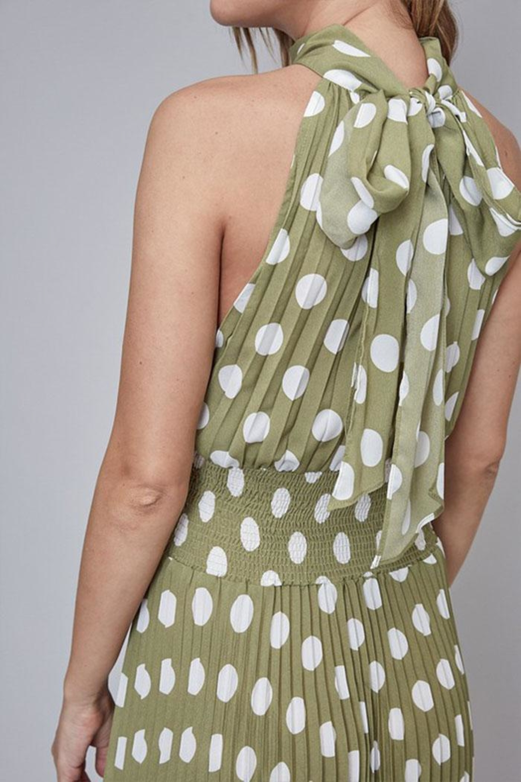Do & Be Polka-Dot Midi Dress - Back Cropped Image