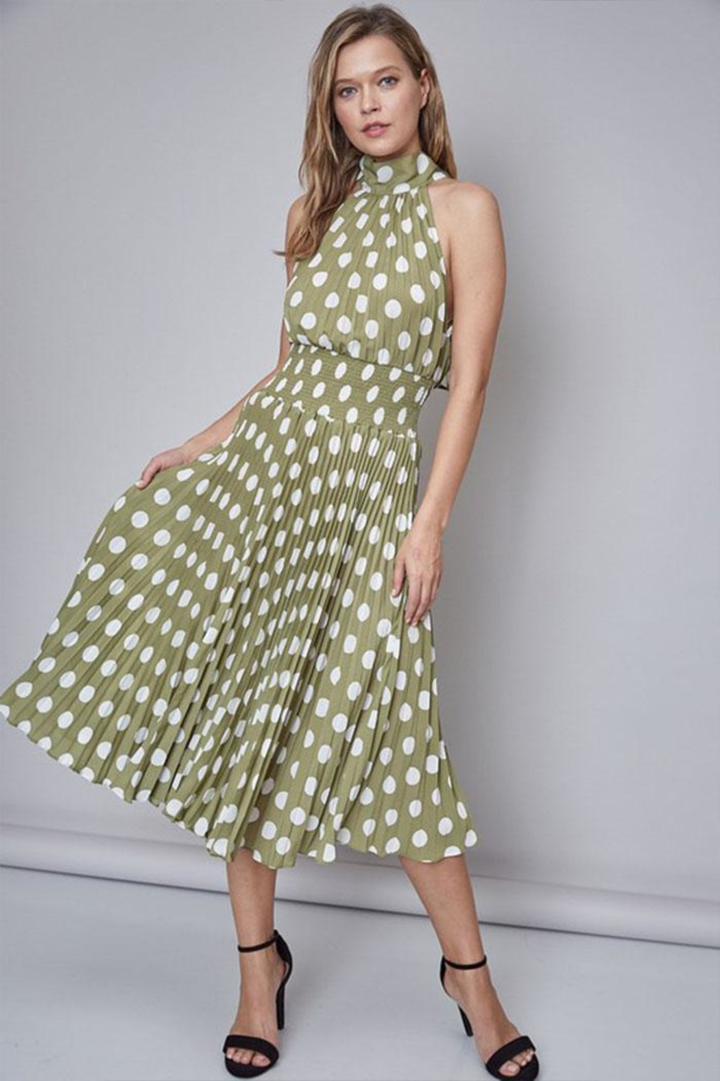 Do & Be Polka-Dot Midi Dress - Main Image