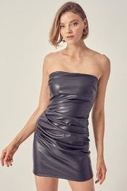 Do & Be Pu Tube Dress - Front cropped