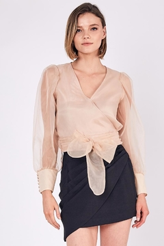 Do & Be Puff-Shoulder Organza Top - Product List Image