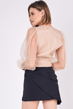 Do & Be Puff-Shoulder Organza Top - Alternate List Image