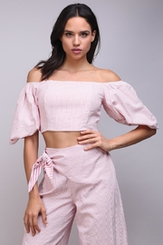 Do & Be Puff Sleeve Blouse - Front cropped