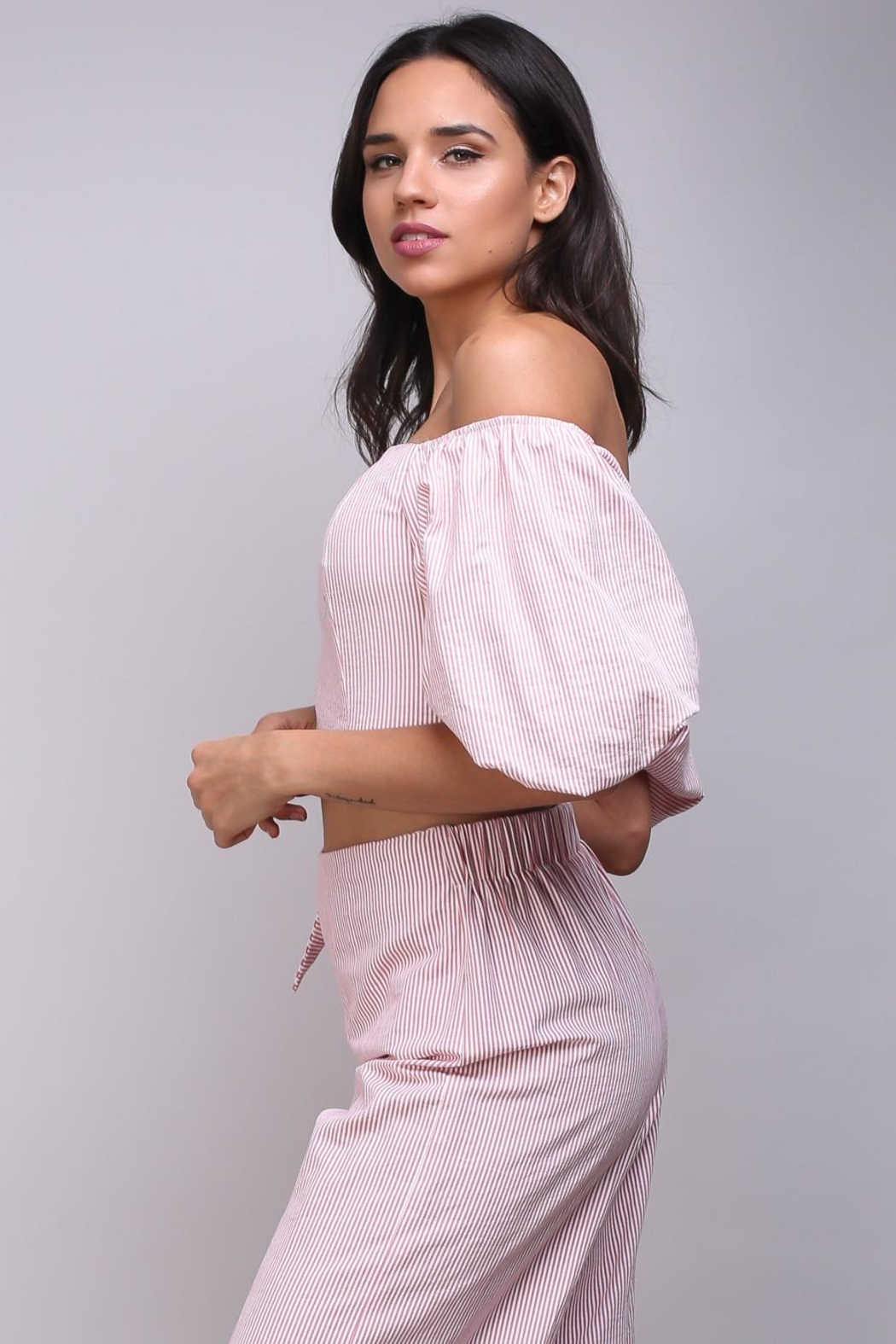 Do & Be Puff Sleeve Blouse - Side Cropped Image