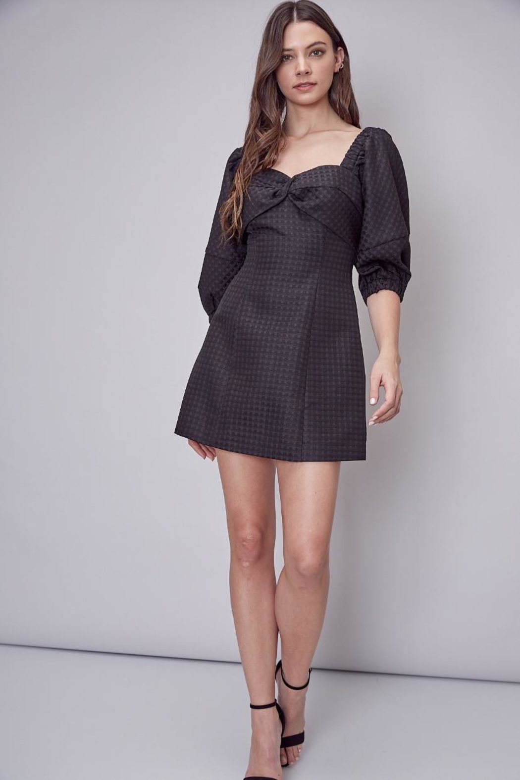 Do & Be Puff Sleeve Dress - Front Full Image