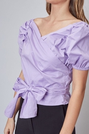 Do & Be Puff-Sleeve Wrap Top - Other