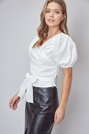 Do & Be Puff-Sleeve Wrap Top - Front full body