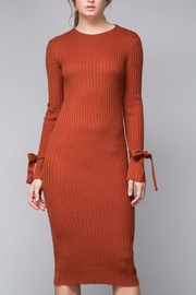 Do & Be Pumpkin Sweater Dress - Front cropped