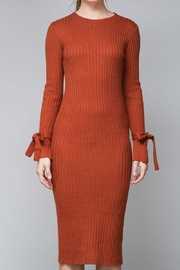 Do & Be Pumpkin Sweater Dress - Side cropped
