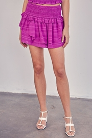 Do & Be Purple Ruffle Skirt - Front cropped