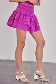 Do & Be Purple Ruffle Skirt - Front full body