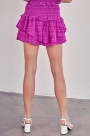 Do & Be Purple Ruffle Skirt - Side cropped