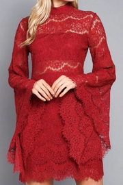 Do & Be Red Lace Dress - Front cropped