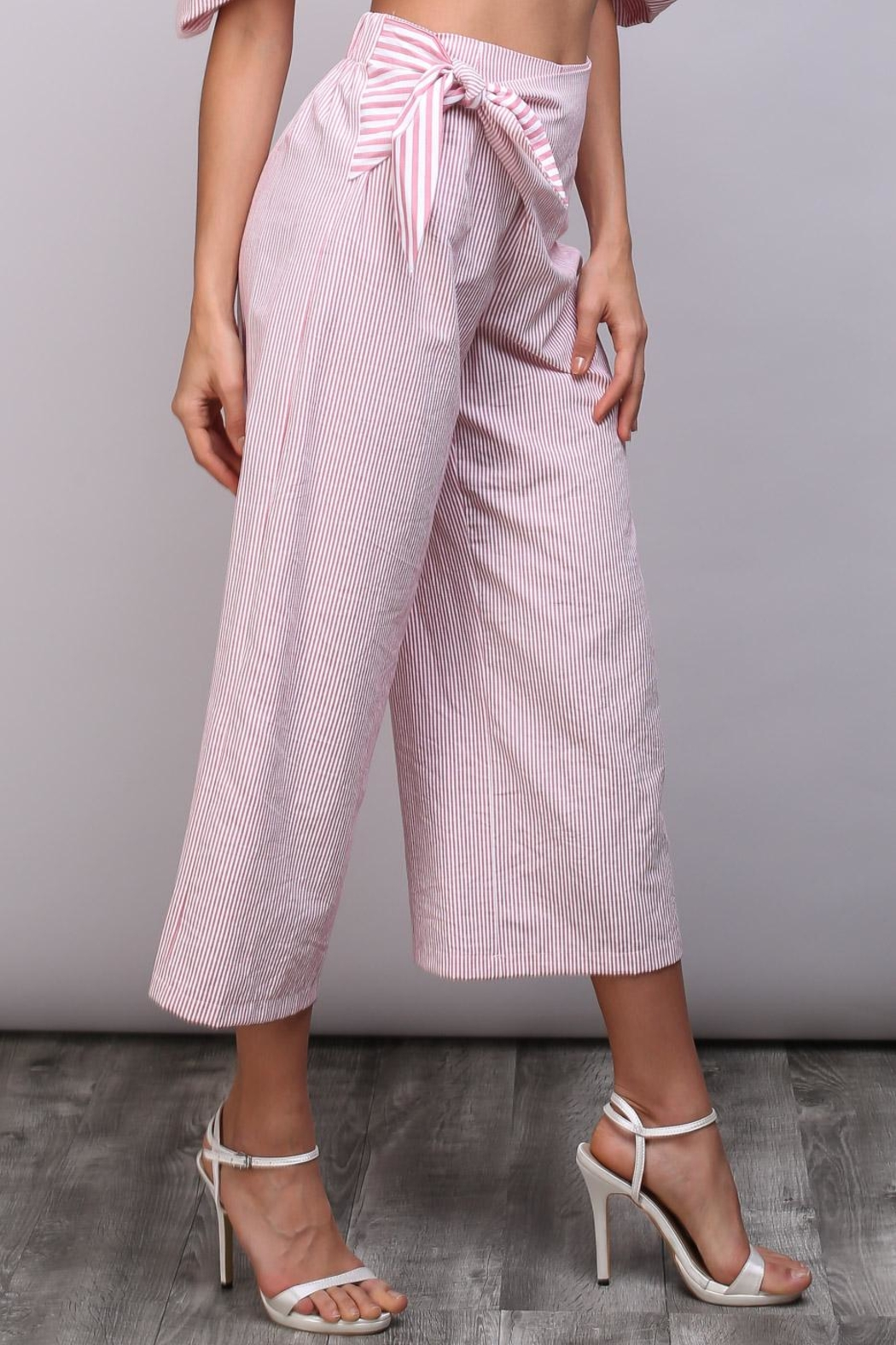 Do & Be Red Stripe Pants - Side Cropped Image