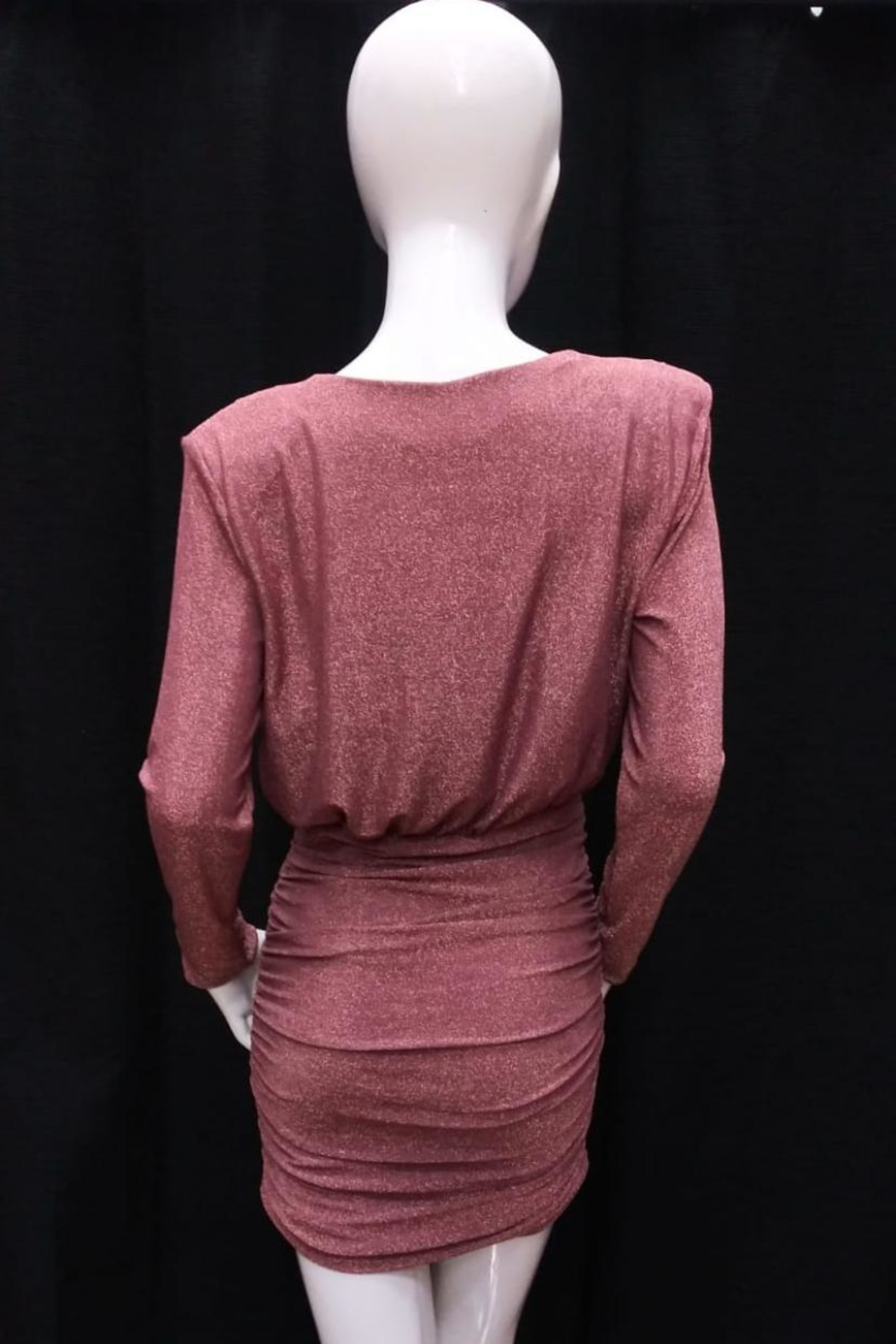 Do & Be Rose-Gold Shirring Dress - Front Full Image