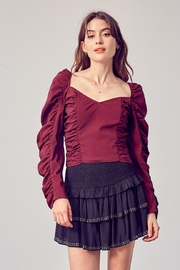 Do & Be Ruched Crop Top - Front cropped