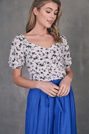 Do & Be Ruched Floral Top - Product Mini Image