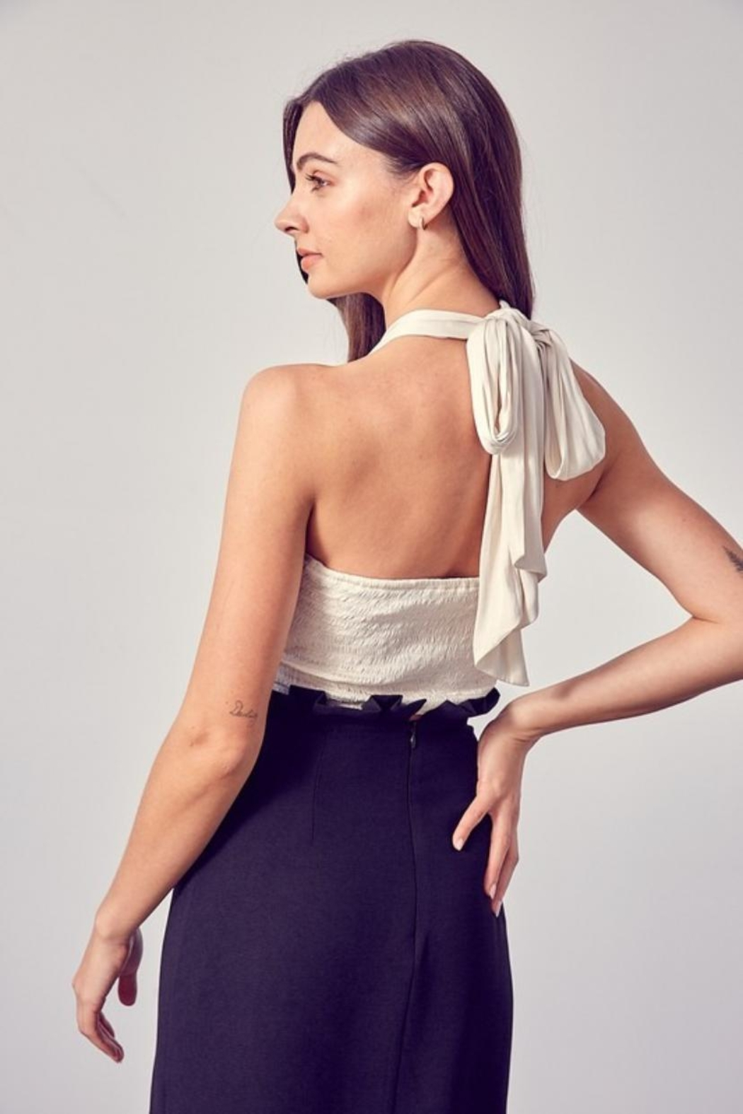 Do & Be Ruched Halter Top - Front Full Image