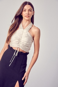 Do & Be Ruched Halter Top - Product List Image