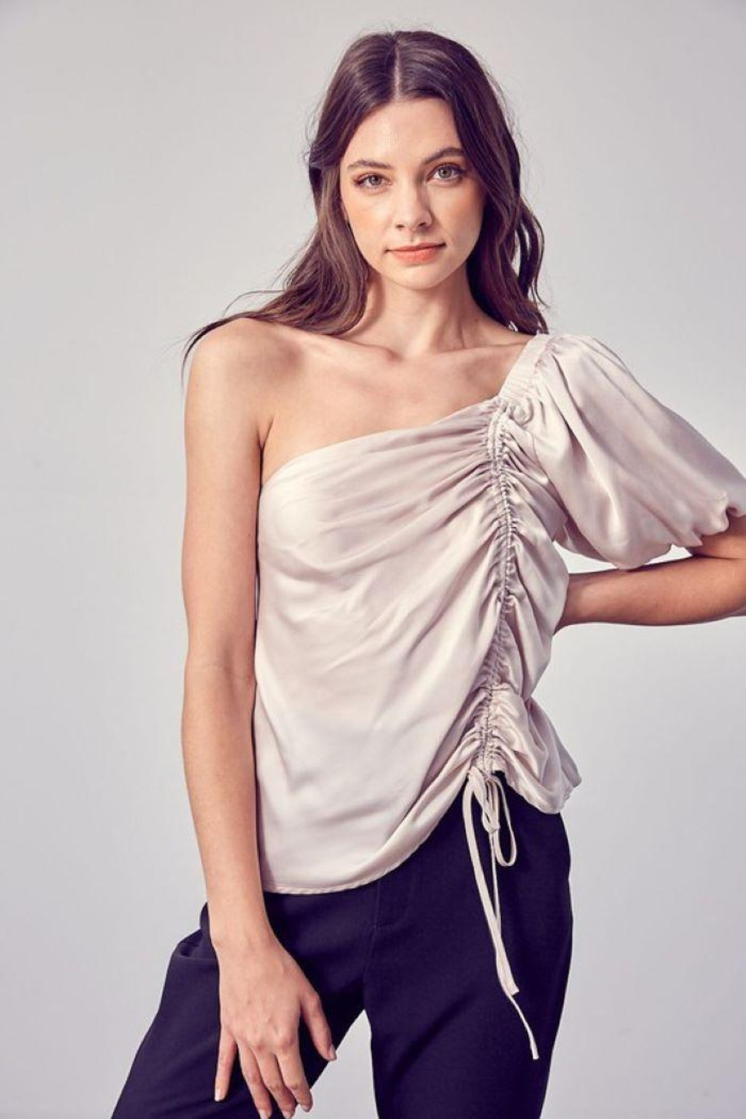 Do & Be Ruched One Shoulder Top - Main Image