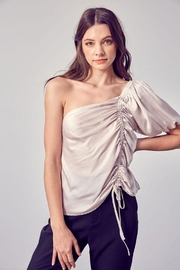 Do & Be Ruched One Shoulder Top - Product Mini Image