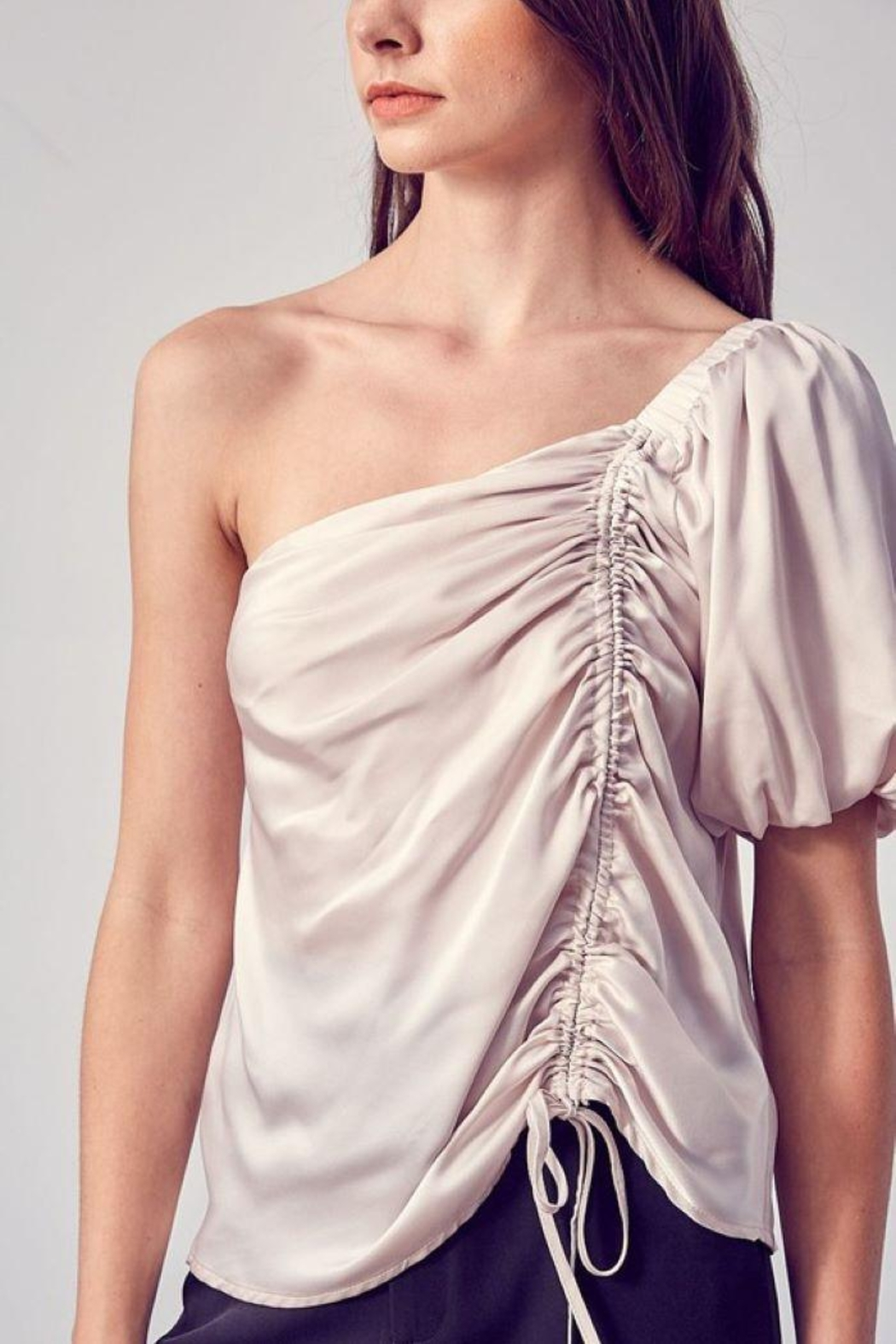 Do & Be Ruched One Shoulder Top - Front Full Image