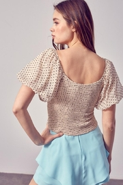 Do & Be Ruched Puff-Sleeve Top - Front full body