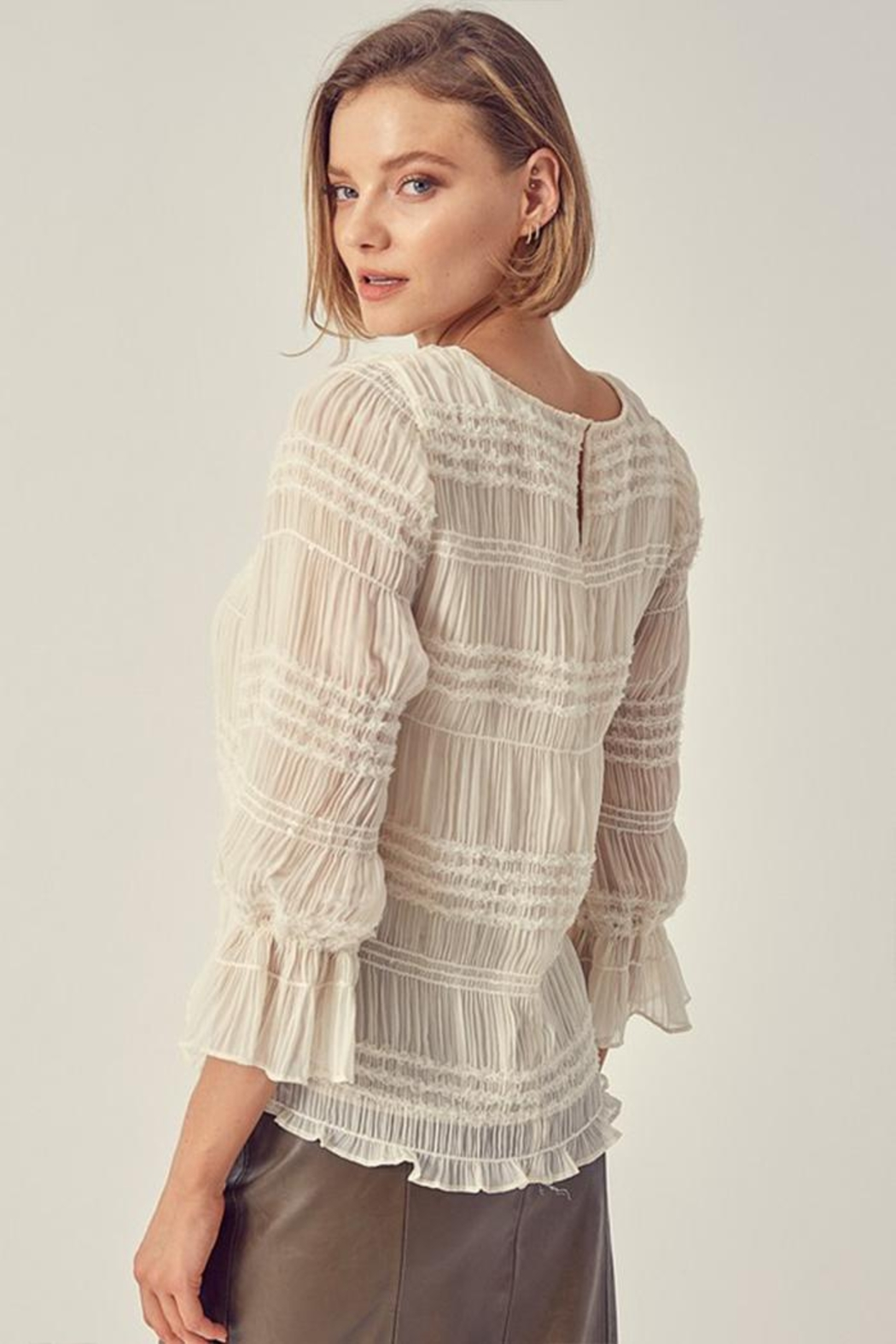 Do & Be Ruched Sequin Top - Side Cropped Image