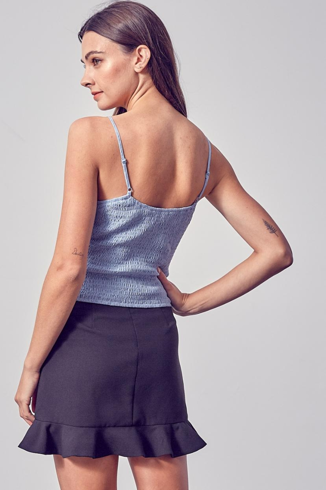 Do & Be Ruched Top - Side Cropped Image