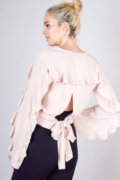 Do & Be Ruffle Detail Cropped Top - Product List Image