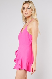 Do & Be Ruffle Front Romper - Front full body