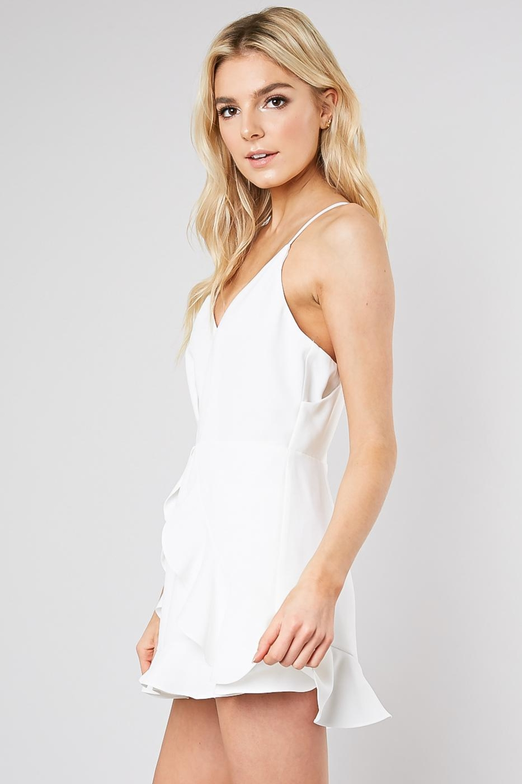 Do & Be Ruffle Front Romper - Front Full Image