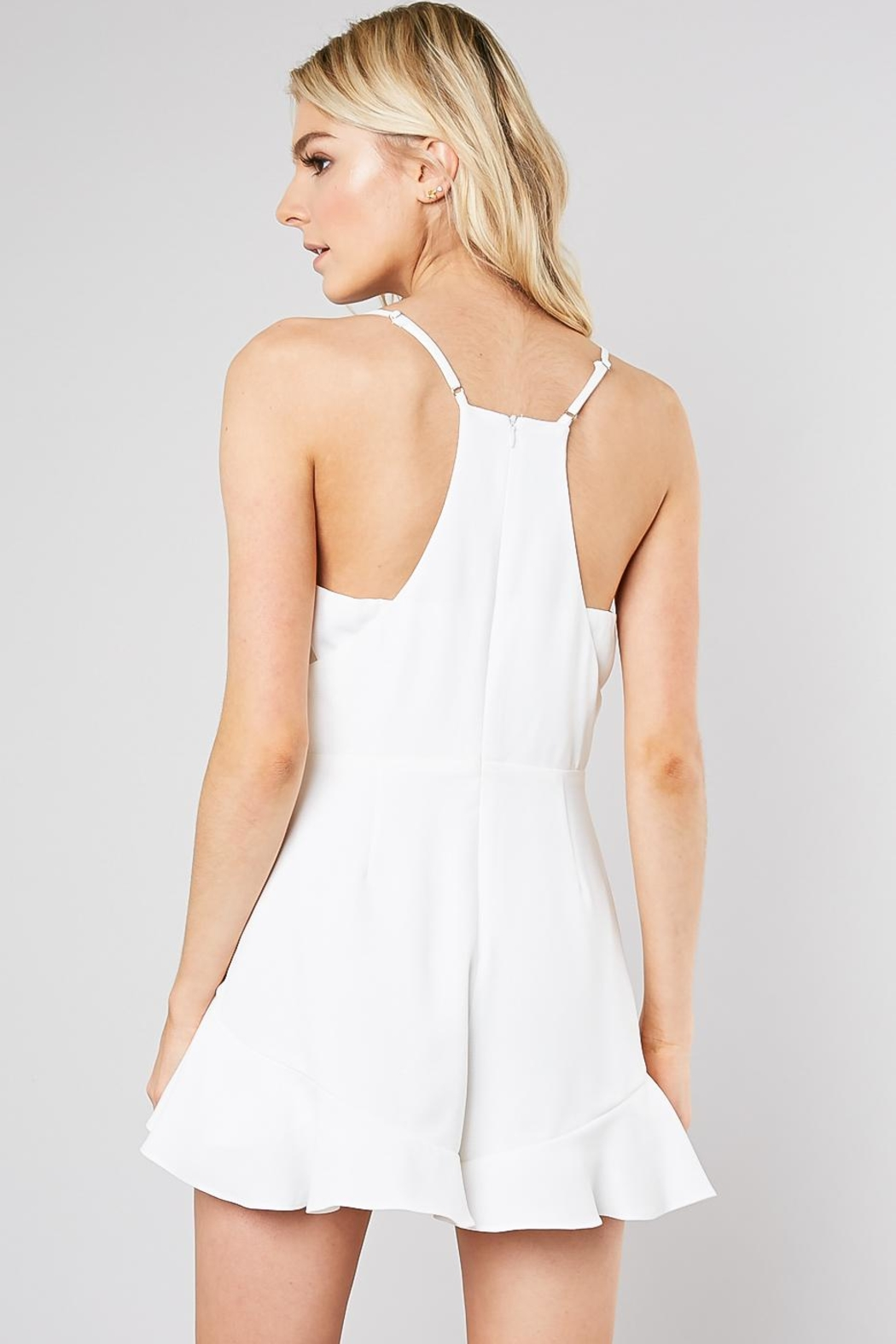 Do & Be Ruffle Front Romper - Side Cropped Image
