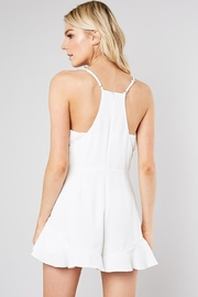 Do & Be Ruffle Front Romper - Side cropped