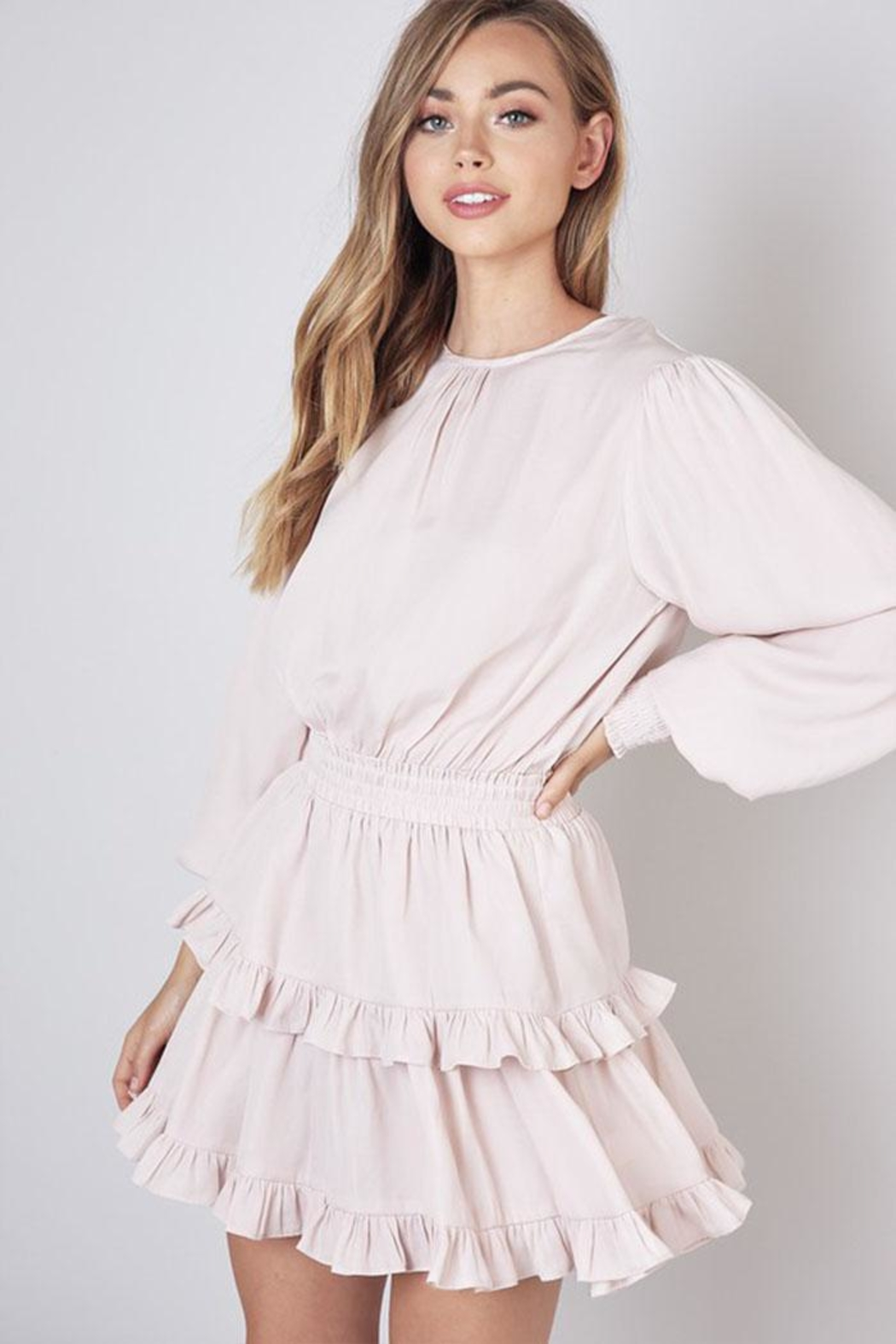 Do & Be Ruffle Layer Dress - Front Cropped Image