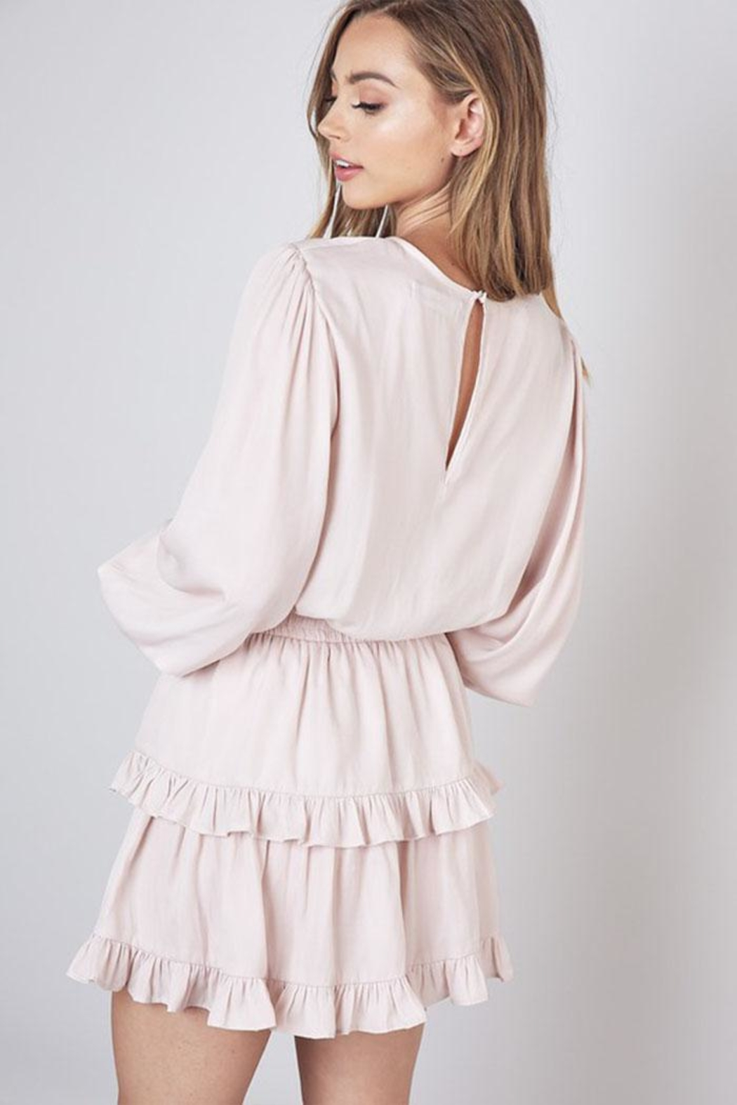 Do & Be Ruffle Layer Dress - Back Cropped Image