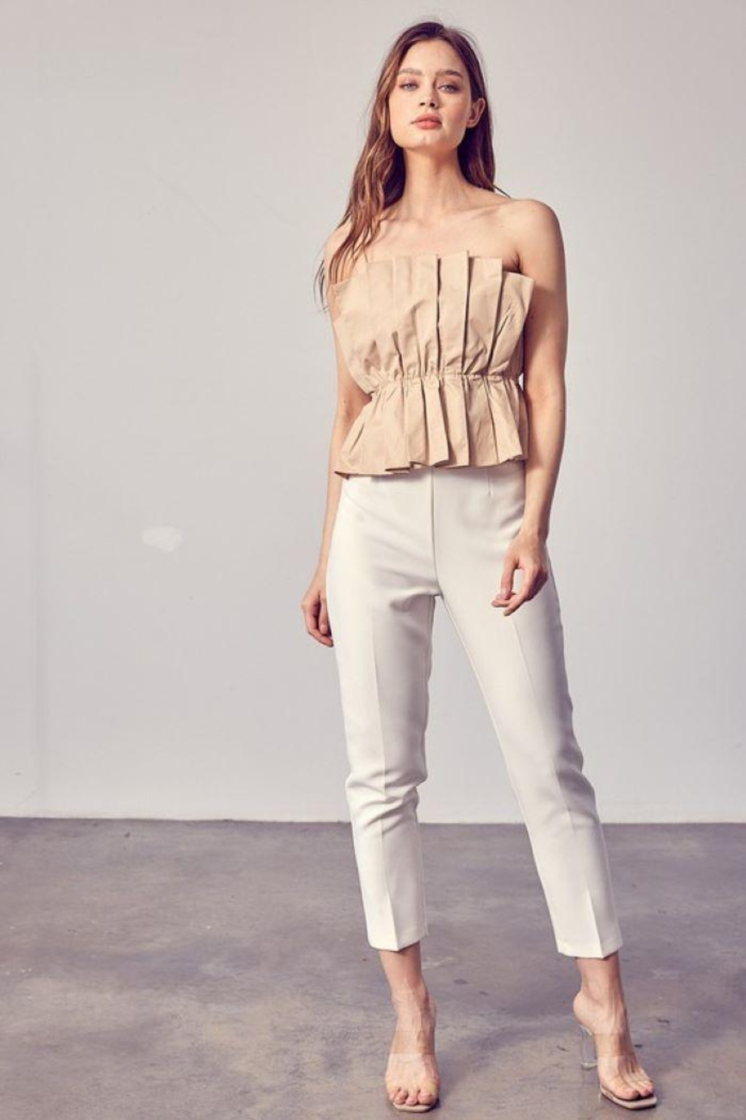 Do & Be Ruffle Open Shoulder Top - Side Cropped Image
