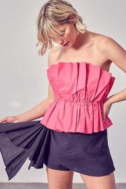Do & Be Ruffle Open Shoulder Top - Front cropped