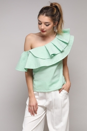 Do & Be Ruffle Shoulder Top - Product Mini Image