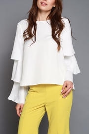 Do & Be Ruffle Sleeve Top - Front cropped