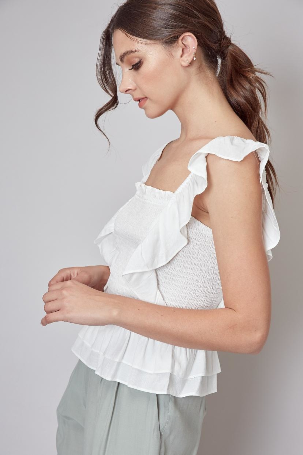 Do & Be Ruffle Smocking Top - Front Full Image