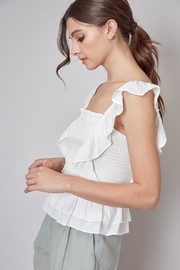 Do & Be Ruffle Smocking Top - Front full body